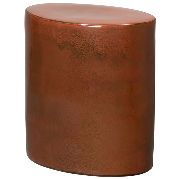 Oval Garden Stool - Copper