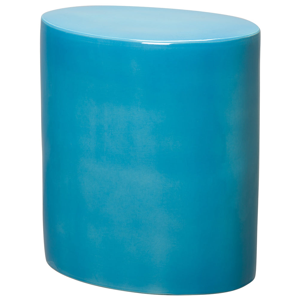 Oval Garden Stool - Turquoise Blue