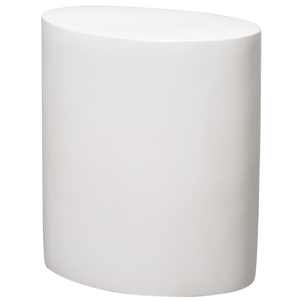 Oval Garden Stool - White