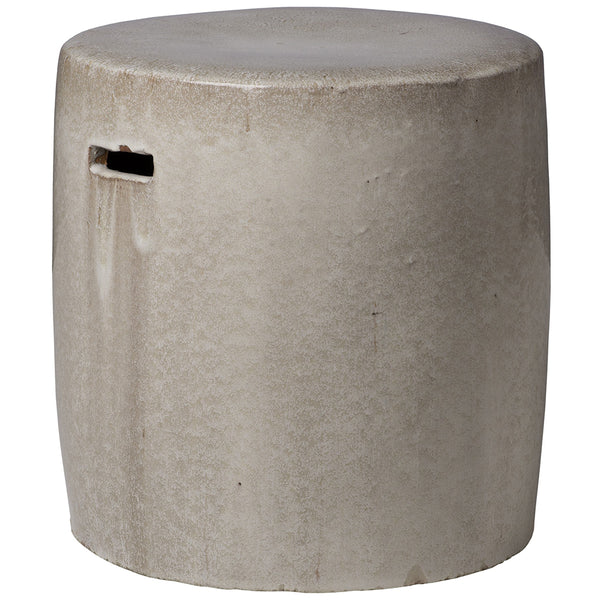 Round Garden Stool - Light Grey