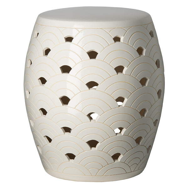 Wave Garden Stool - White