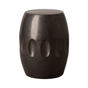 Orion Garden Stool - Gun Metal Black