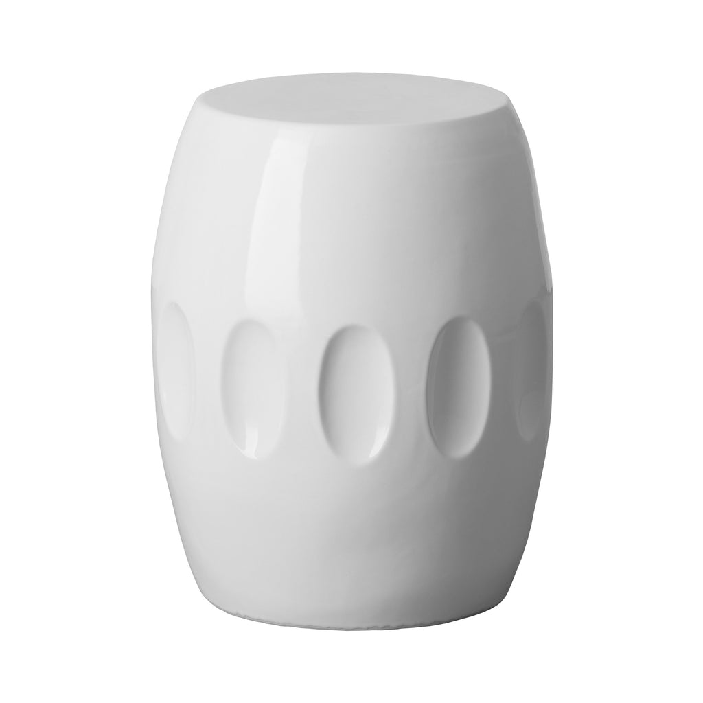 Orion Garden Stool   White