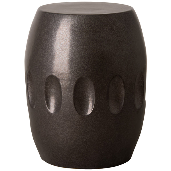 Large Orion Garden Stool - Gun Metal Black