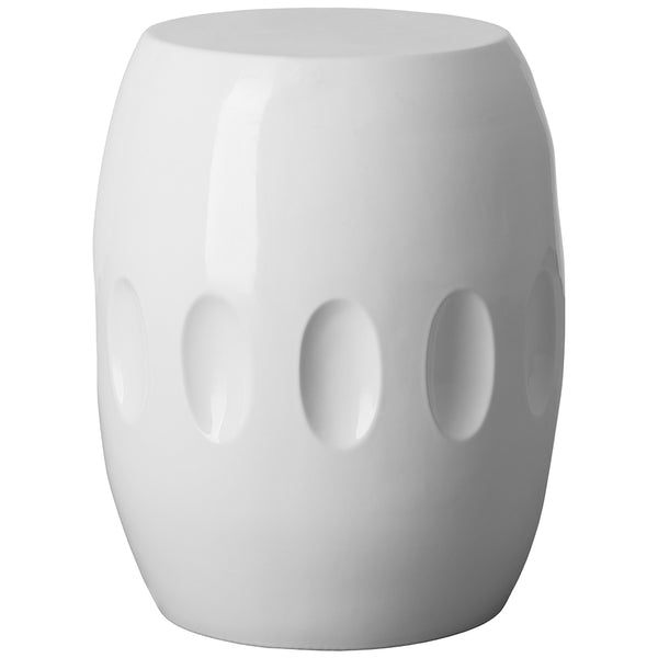 Large Orion Garden Stool - White
