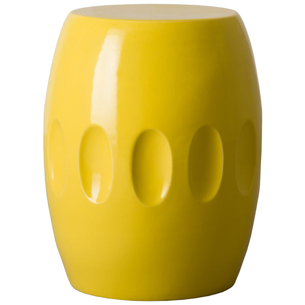 Large Orion Garden Stool - Yellow