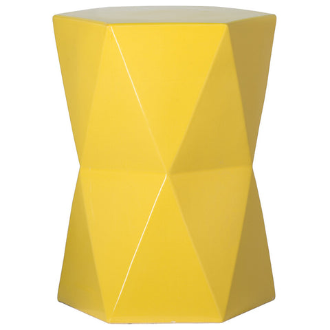 Matrix Garden Stool - Yellow