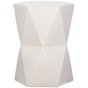 Large Matrix Garden Stool - White