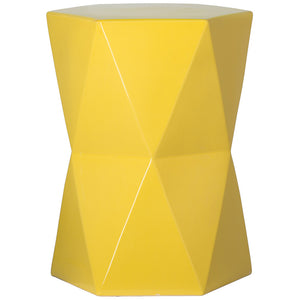 Large Matrix Garden Stool - Yellow