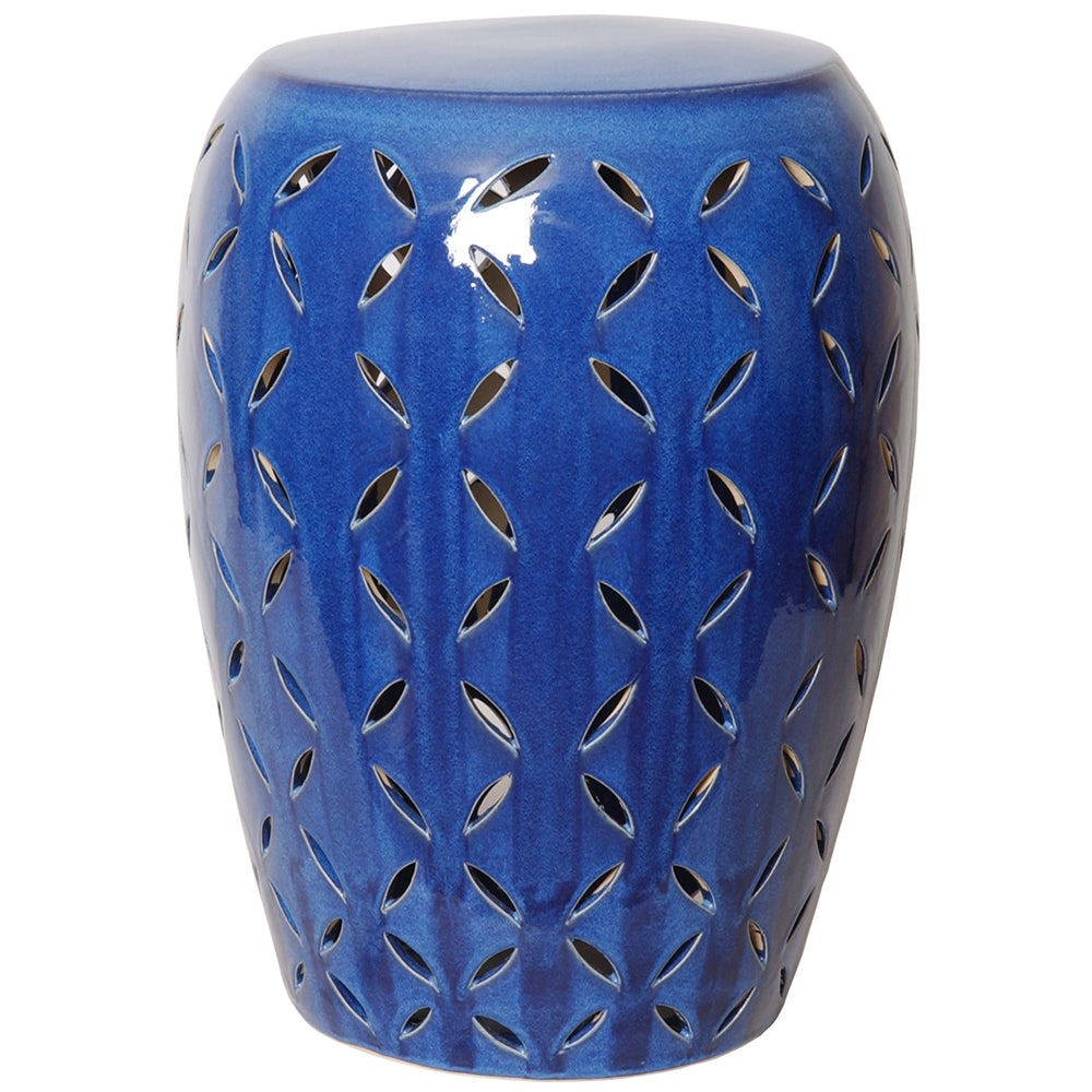Large Lattice Garden Stool - Blue