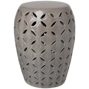 Large Lattice Garden Stool - Grey