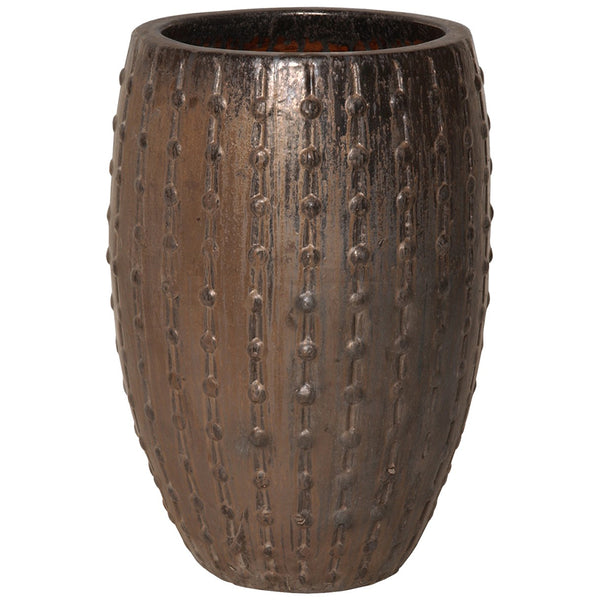 Studded Ceramic Planter - Bronze