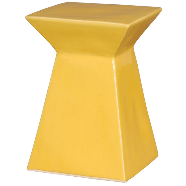 Upright Garden Stool - Yellow