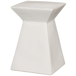 Upright Garden Stool - White