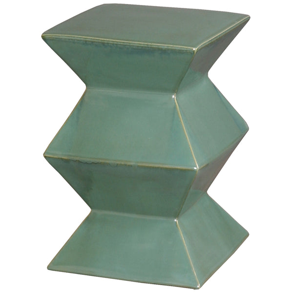 Zigzag Garden Stool - Green