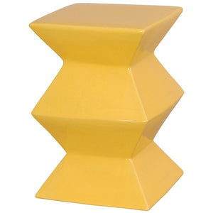 Zigzag Garden Stool - Yellow