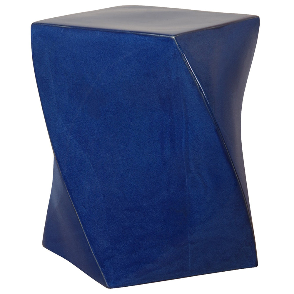 Twist Garden Stool - Blue
