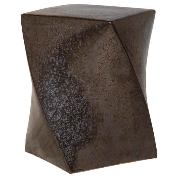 Twist Garden Stool - Gun Metal Grey