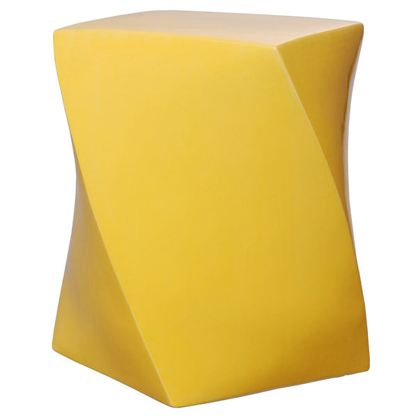 Twist Garden Stool - Yellow
