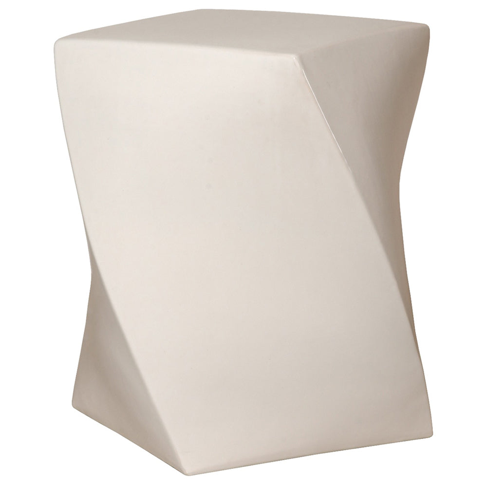 Twist Garden Stool - White