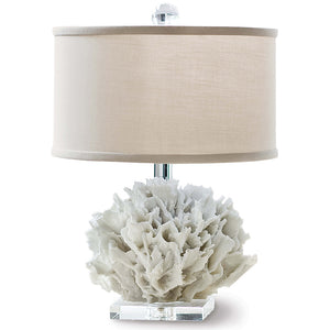 Regina Andrew Faux Ribbon Coral Table Lamp with Crystal Base