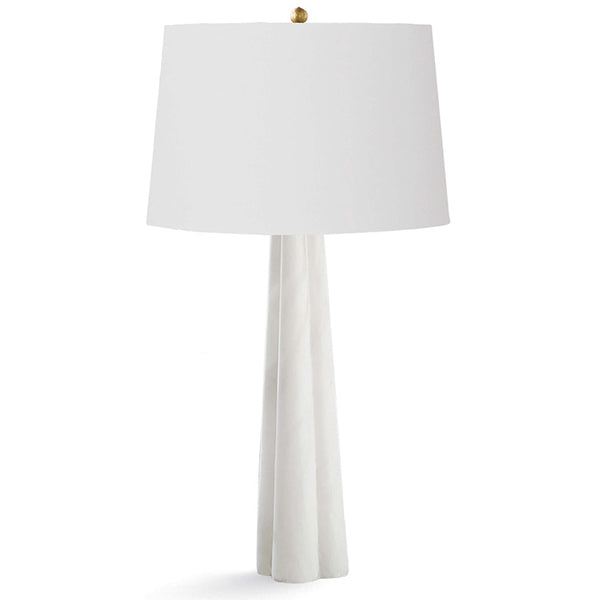 Regina Andrew Large Tapered Alabaster Table Lamp with Linen Shade