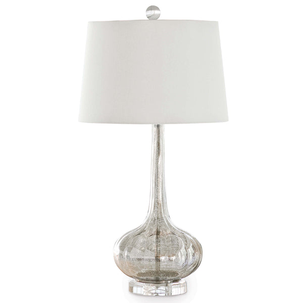 Regina Andrew Glass Teardrop Table Lamp with Crystal Base – Antique Mercury