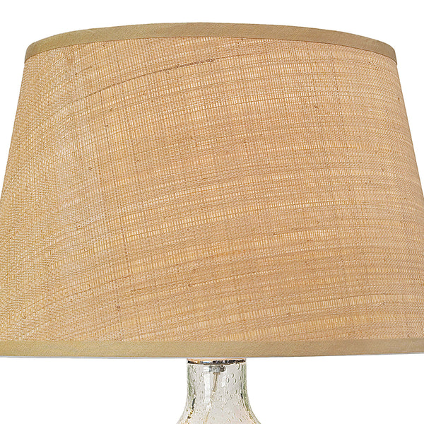 Regina Andrew Seeded Glass Table Lamp with Rattan Shade