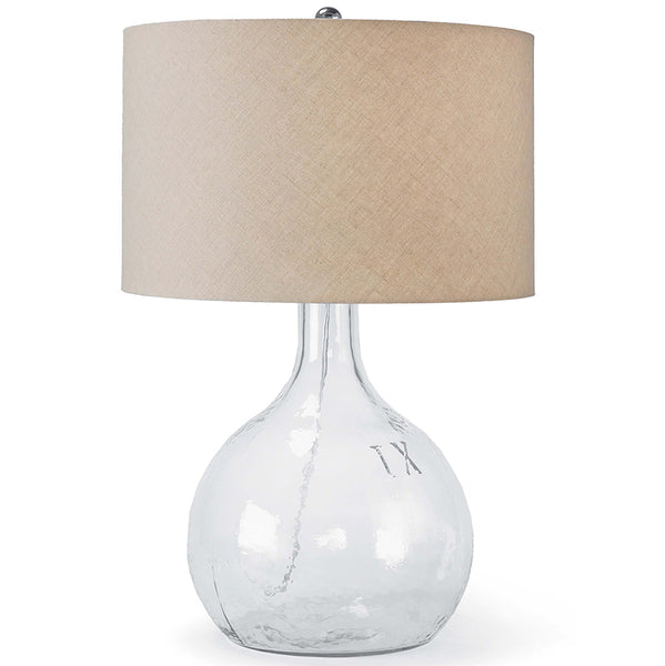 Regina Andrew Recycled Glass Table Lamp with Linen Shade