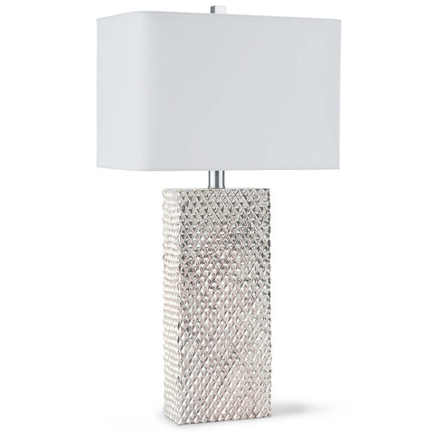 Regina Andrew Textured Column Table Lamp – Ambered Silver