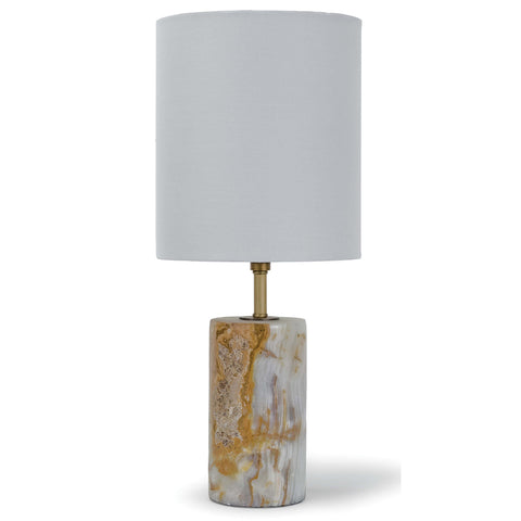 Regina Andrew Jade & Brass Mini Column Table Lamp