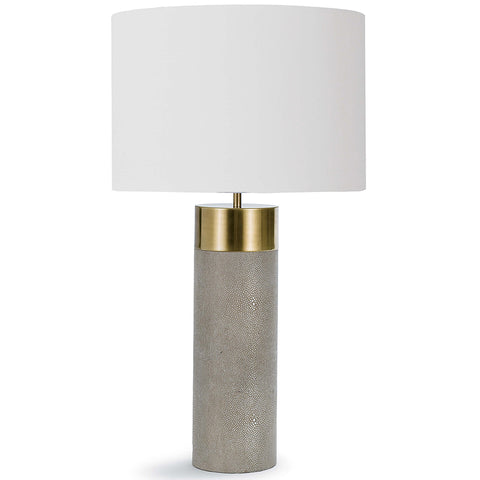 Regina Andrew Faux Shagreen Cylinder Table Lamp