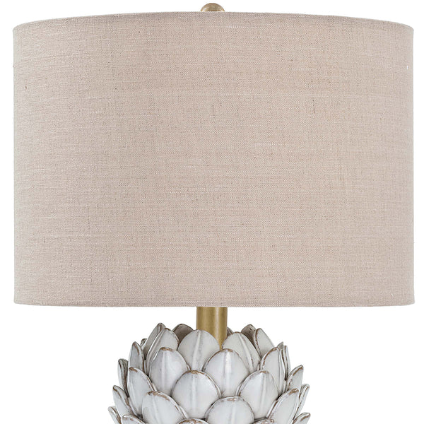 Regina Andrew Ceramic Artichoke Table Lamp with Linen Shade