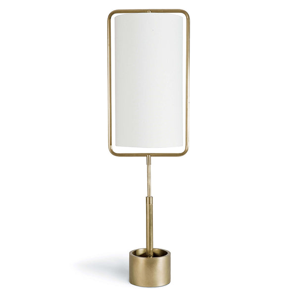 Regina Andrew Geo Rectangle Table Lamp – Natural Brass