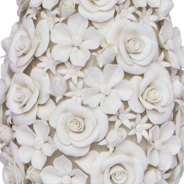 Regina Andrew Porcelain Flowers Table Lamp with Linen Shade