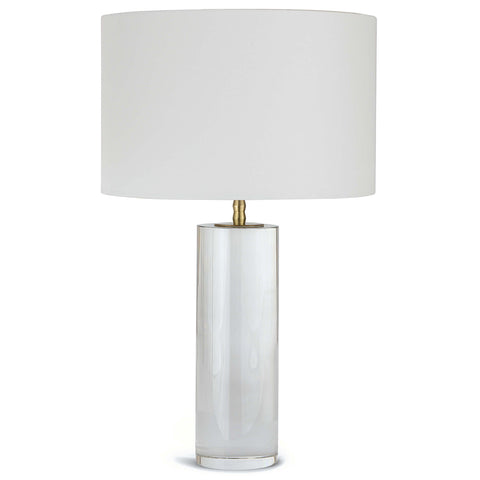 Regina Andrew Crystal Column Table Lamp with Natural Linen Shade