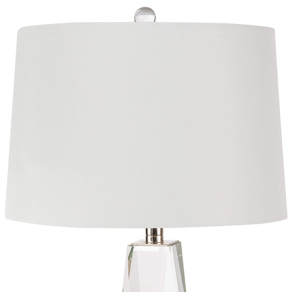 Regina Andrew Tapered Crystal Column Table Lamp – Small