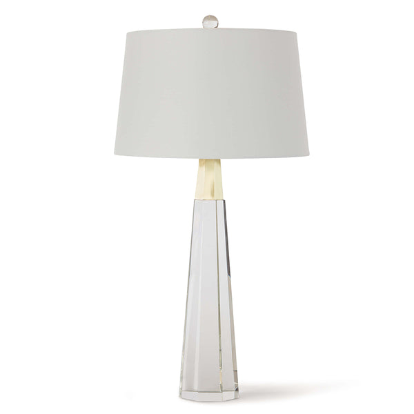Regina Andrew Tapered Crystal Table Lamp with Linen Shade