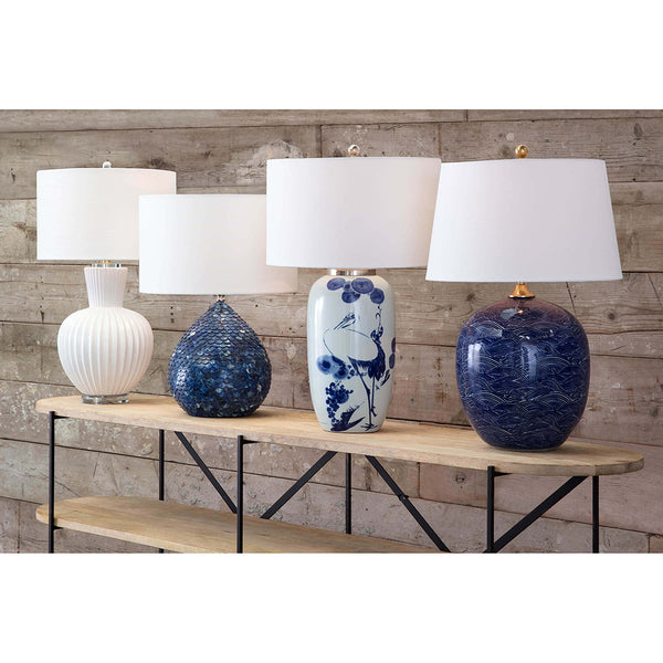 Regina Andrew Recycled Bone Scales Table Lamp with Linen Shade