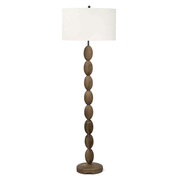 Regina Andrew Turned Wood Floor Lamp with Linen Shade