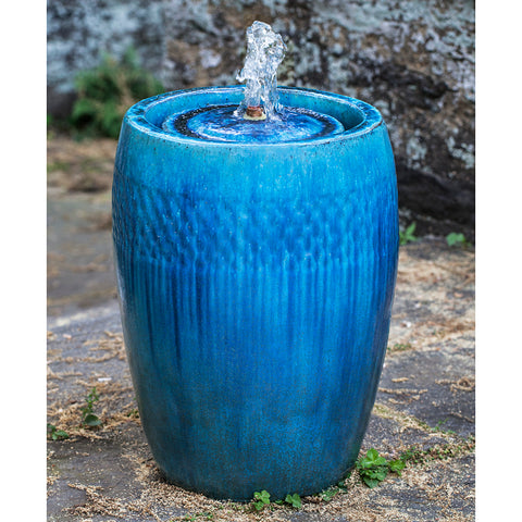 Round Garden Fountain - Blue