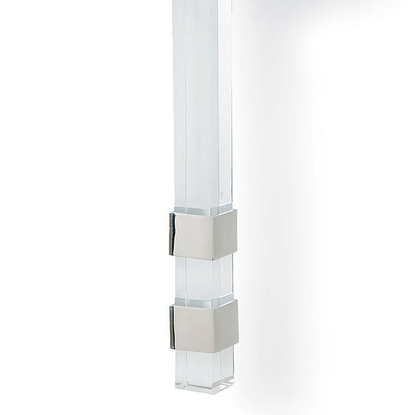 Regina Andrew Crystal & Steel Sconce with Box Shade – Polished Nickel