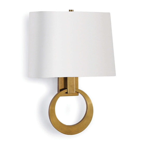 Regina Andrew Hanging Ring Wall Sconce – Natural Brass