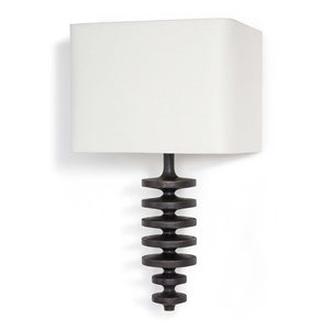 Regina Andrew Fishbone Sconce with Linen Shade – Ebony