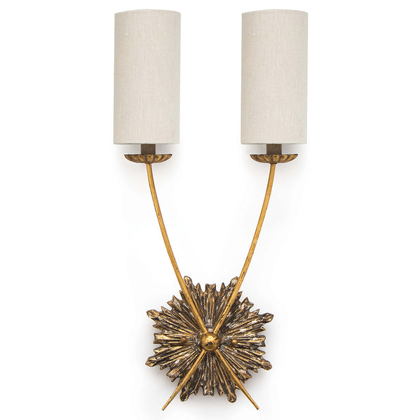 Regina Andrew Louis 2-Arm Sconce with Linen Shades