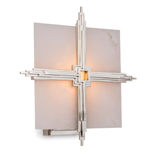 Regina Andrew Deco Alabaster Cross Sconce – Polished Nickel