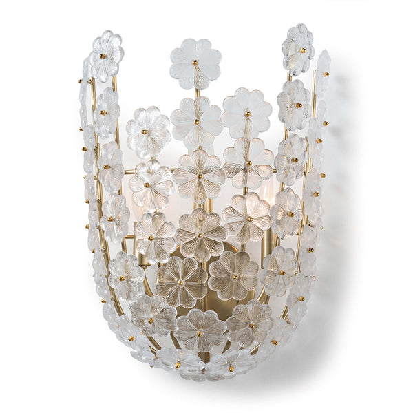 Regina Andrew Glass Flowers Basket Sconce