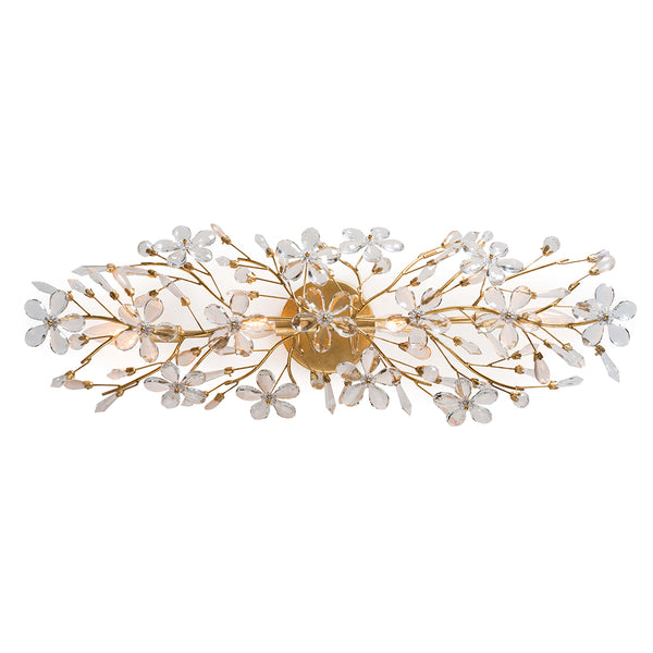 Regina Andrew Crystal Blossoms Sconce – Gold Leaf