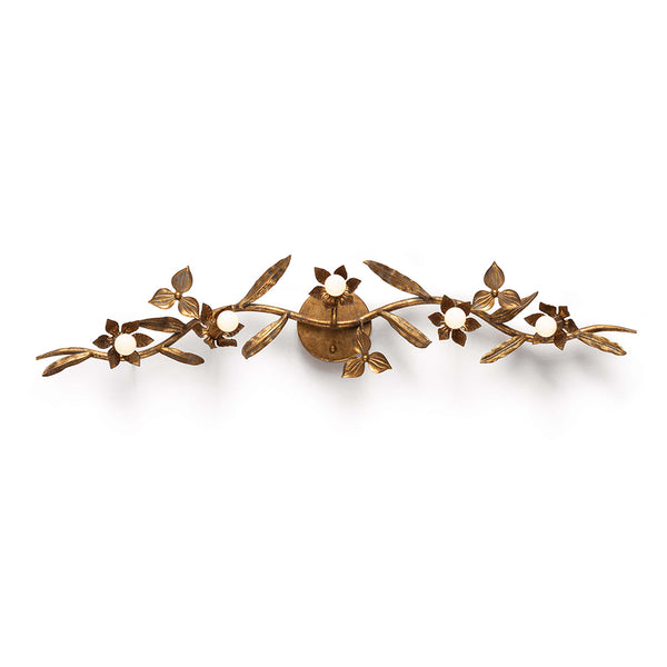 Regina Andrew Flowered Branch 5-Bulb Brass Sconce