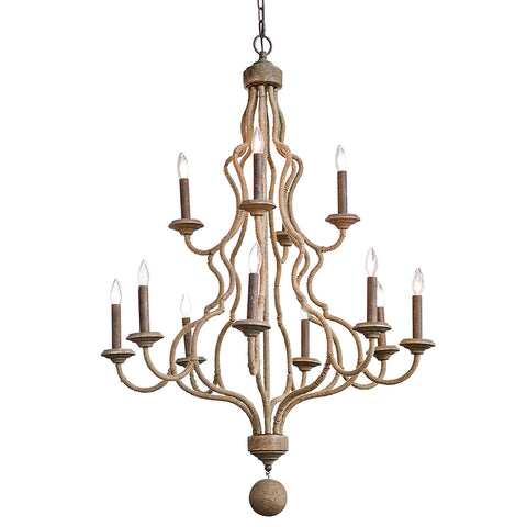 Regina Andrew 2-Tier Jute Wrapped Chandelier – Natural